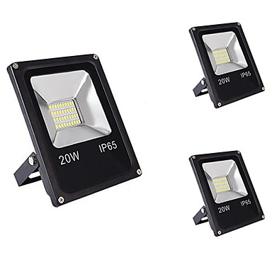 3pcs 20W LED Floodlight Waterproof Decorative Everyday Use Home/Office Outdoor Lighting Warm White Cold White DC12-80V