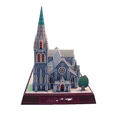 Quebra-Cabeças 3D Maquetes de Papel Brinquedos de Montar Quadrada Construções Famosas Igreja Arquitetura Faça Você Mesmo Cartão de Papel