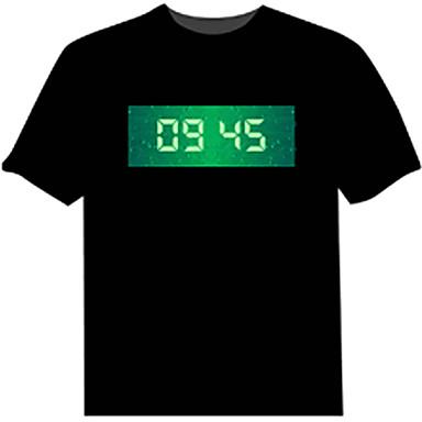 Camiseta com LED 100% Algodão Inovador 4 Baterias AAA