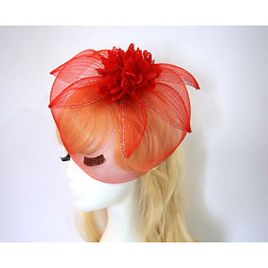Resin Cotton Fascinators Flowers Hats 1 Wedding Special Occasion Halloween Birthday Party / Evening Casual Headpiece