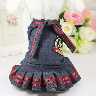 Dog Dress Dog Clothes Casual/Daily Jeans Costume For Pets