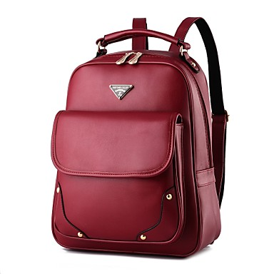 Women's Bags PU Backpack for Casual Sports Formal Outdoor Spring All Seasons Blue Black Red Fuchsia