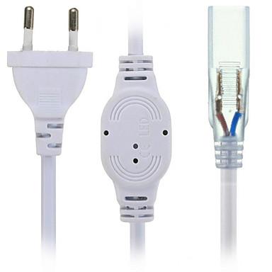 Tomada de tomada hkv® us / eu com 2 pinos para barra de luz strip strip 5630/5050 acd20-240v