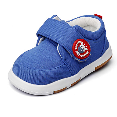 Boys' Shoes Fabric Spring / Fall First Walkers / Light Soles Flats Magic Tape for Royal Blue / Wedding / Party & Evening
