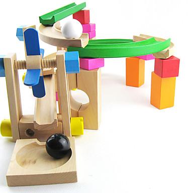Bolas Pistas para Bolinhas de Gude Jogos Pai e Filhos Modelo e Blocos de Construção Brinquedos 3D Madeira Crianças Dom 1pcs