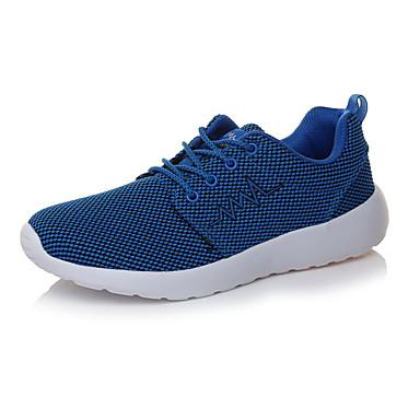 Homens sapatos Couro Ecológico Primavera Outono Conforto Tênis Caminhada Cadarço para Atlético Ao ar livre Preto Cinzento Azul Marinho