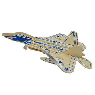 3D Puzzles Metal Puzzles Wood Model Model Building Kit Plane / Aircraft DIY Natural Wood Classic 6 Years Old and Above