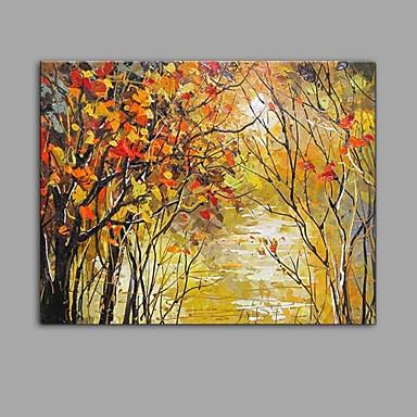 Maalattu Maisema Abstrakti 1 paneeli Kanvas Hang-Painted öljymaalaus For Kodinsisustus