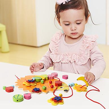 Ferramentas de Ensino Montessori Blocos de Construir Educação Legal Para Meninos Dom