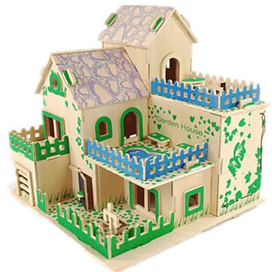 3D Puzzle Jigsaw Puzzle Wood Model Model Building Kit Famous buildings House DIY Wood Classic Unisex Gift