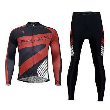 ILPALADINO Férfi Hosszú ujj Kerékpáros dzsörzé nadrággal - Fekete Bike Ruházati kollekciók, 3D-s párna, Gyors szárítás, Tavasz,