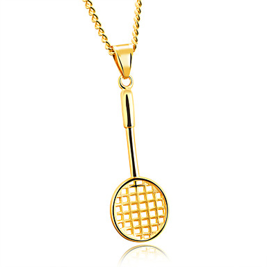 Men's Pendant Necklace - Statement Gold, White, Black Necklace For Party, Birthday, Party / Evening