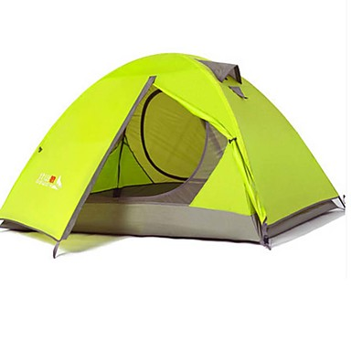 2 persons Tent Automatic Tent Double Waterproof Ultraviolet Resistant Rain-Proof Dust Proof Foldable 2000-3000 mm for Camping / Hiking CM