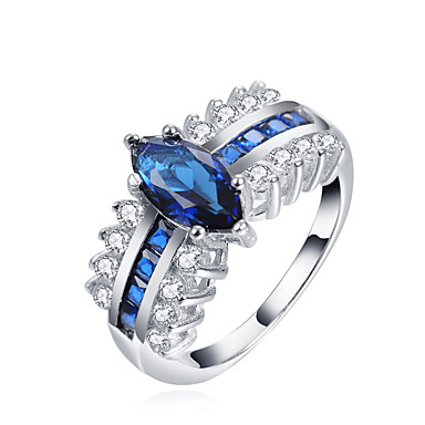 Women's Band Ring Classic Fashion Alloy Geometric Costume Jewelry Wedding Engagement Gift Evening Party