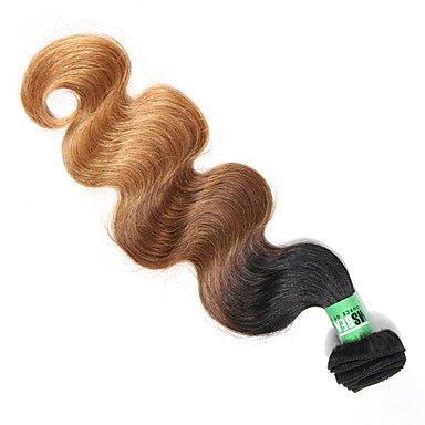 Malaysian Hair Body Wave Human Hair Weaves 1pc Soft Ombre Hair Weaves Daily