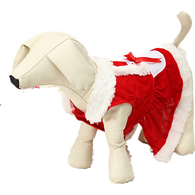 Dog Costume Dog Clothes Solid Colored Red Chinlon Costume For Pets Christmas