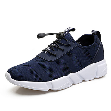 Men's PU(Polyurethane) Summer Comfort Athletic Shoes Walking Shoes Black / Blue