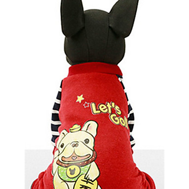 Hund Genser Hundeklær Fritid/hverdag Cartoon Gul Rød