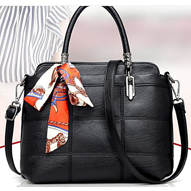 Women Bags All Seasons PU Shoulder Bag for Casual Outdoor Black