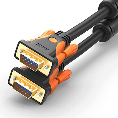 VGA Connect Cable, VGA to VGA Connect Cable Male - Male Gold-plated copper 5.0m(16Ft)