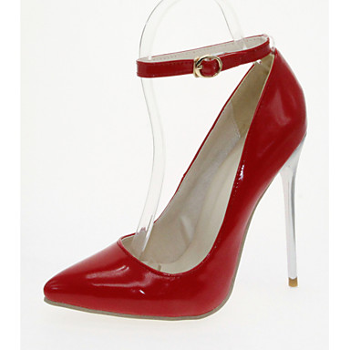 Mulheres Sapatos Courino / Couro Ecológico Primavera / Verão Conforto / Inovador Saltos Caminhada Salto Agulha Dedo Apontado Azul / Rosa
