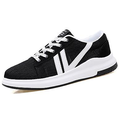 Homens sapatos Couro Ecológico Primavera Verão Conforto Tênis para Casual Branco Preto Cinzento Azul