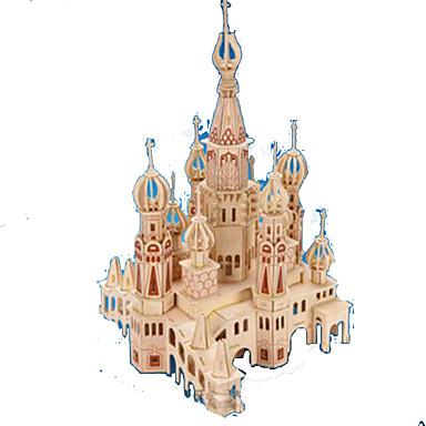 voordelige 3D-puzzels-3D-puzzels Legpuzzel Modelbouwsets Kasteel Beroemd gebouw Puinen Natuurlijk Hout Volwassenen Unisex Speeltjes Geschenk