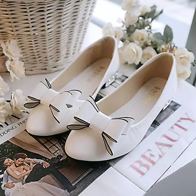 Women's Shoes PU Summer Comfort Flats For Casual White Black Red