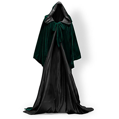 Wizard Coat Cosplay Costume Cloak Witch Broom Masquerade Halloween Props Party Costume Unisex Christmas Halloween Carnival Children's Day