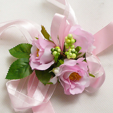 Wedding Flowers Wrist Corsages Wedding Taffeta / Silk / Satin 1.97