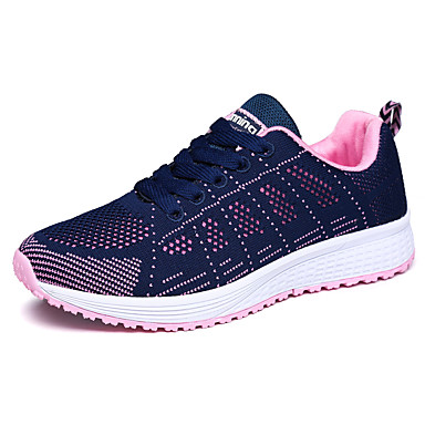 Women's Shoes Knit Fall Winter Comfort Athletic Shoes Fitness & Cross Training Shoes Flat Heel Round Toe Lace-up For Athletic Outdoor