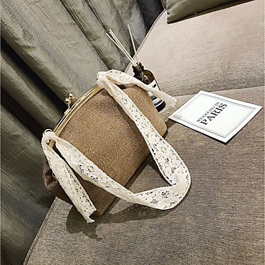 Women Bags All Seasons Canvas Shoulder Bag for Casual Black Gray Brown