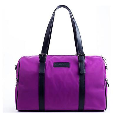 Unisex Bags All Seasons PU Nylon Travel Bag for Casual Outdoor Black Gray Purple