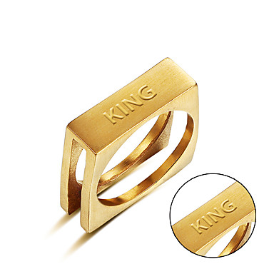 Személyre szabott ajándékot Gyűrűk Rozsdamentes acél Páros Egyszerű Geometrijski oblici Divat Ajándék