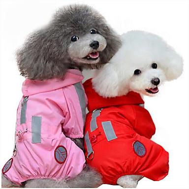 Cachorro Capa de Chuva Roupas para Cães Sólido Vermelho Rosa claro Fibras Acrilicas Ocasiões Especiais Para animais de estimação Homens