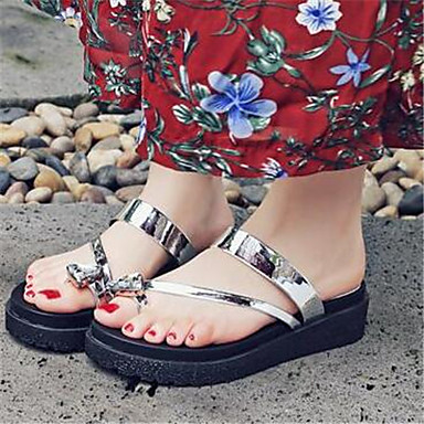 Women's Shoes PU Summer Comfort Sandals For Casual Gold Sliver