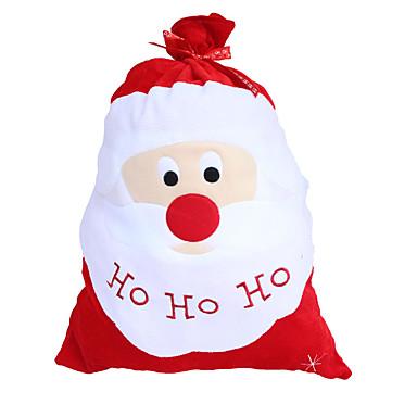 Decorações de férias Personagens Santa Floco de Neve Inspirador Other Férias Vermelho com Branco Vermelho 1pç