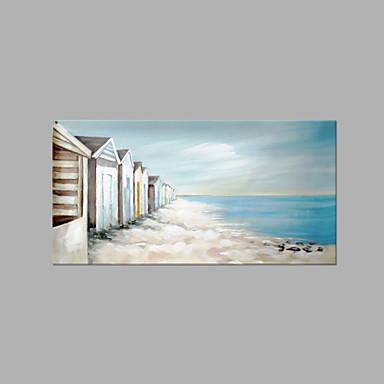 Maalattu Abstrakti Horizontal, Abstrakti Moderni/nykyaikainen Kangas Hang-Painted öljymaalaus Kodinsisustus 1 paneeli