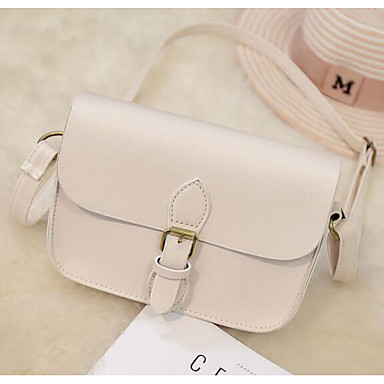 Women Shoulder Bag PU All Seasons Casual Outdoor Round Magnetic White Black