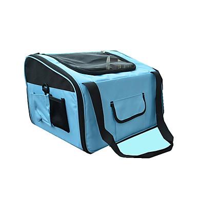 Cat Dog Carrier & Travel Backpack Pet Carrier Portable Breathable Solid Black Blue