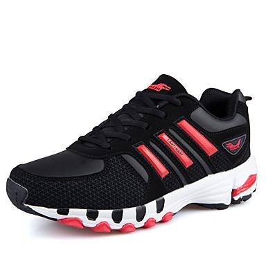 Homens sapatos Tule Primavera / Verão Solados com Luzes Tênis Aventura Preto / Vermelho / Azul e preto