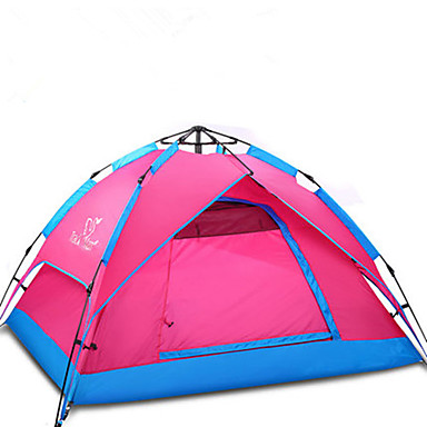 Trackman® 3-4 persons Beach Tent Tent Double Camping Tent One Room Automatic Tent Ultraviolet Resistant Rain-Proof Dust Proof Foldable