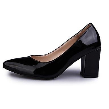 Naiset Kengät Synteettinen mikrokuitu PU PU Syksy Persu avokkaat Korkokengät Käyttötarkoitus Kausaliteetti Musta Harmaa Pinkki