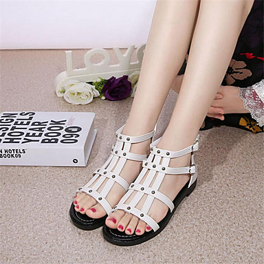 Women's Shoes PU Spring Comfort Sandals With For Casual White Black
