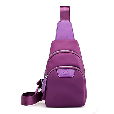 Women's Bags Nylon Sling Shoulder Bag for Casual Blue / Black / Purple