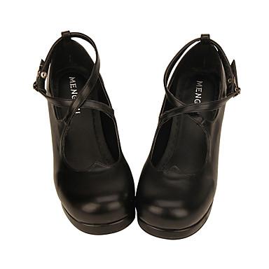 Lolita Shoes Sweet Lolita Dress Classic Lolita Dress Handmade Princess Lolita Chunky Heel Shoes Lolita 4.5 CM White Black (iPhone4) For