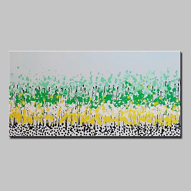 Hang-Painted öljymaalaus Maalattu - Abstrakti Abstrakti Moderni Kangas