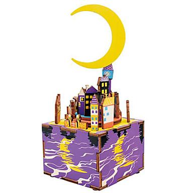 Puslespill i tre Kjent bygning MOON Tegneserie GDS Tre Sammensatt Gutt Gave