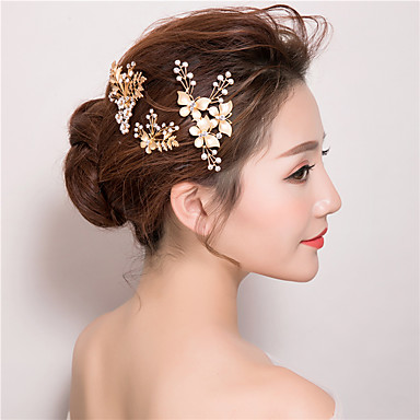 Rhinestone Hair Combs Hair Stick 1 Wedding Special Occasion Birthday Party / Evening Casual Headpiece