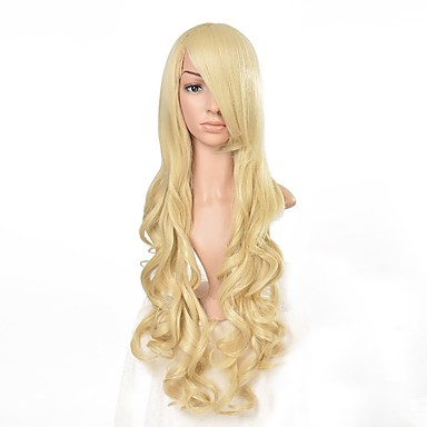 Buy 80cm Women's Long Wavy Blonde Synthetic Hair Wig Cosplay wigs